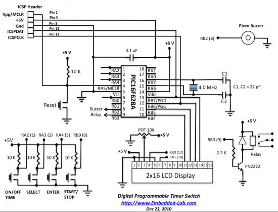 Электронная схема таймера отключения питания Схемы датчиков